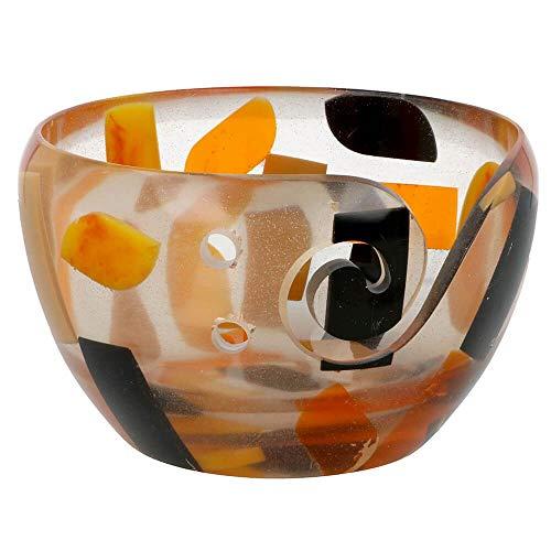 Scheepjes Cuenco de plástico transparente / negro / naranja 13 x 8 cm