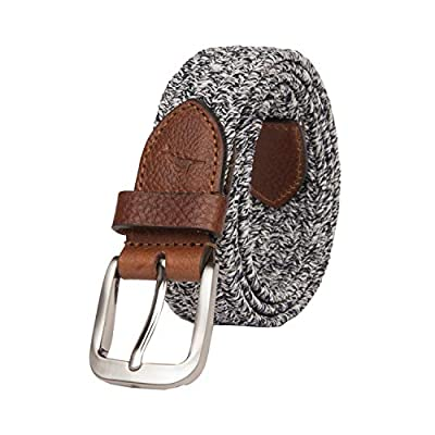 Tommy Bahama Men's Fabric Belt, Navy/Brown, Small (30-32)