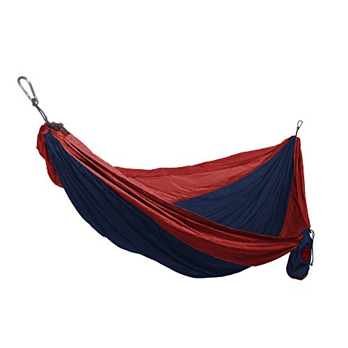 Grand Trunk Double Parachute Printed Nylon Hammock: Portable with Carabiners and Hanging Kit - Perfect for Outdoor Adventures, Backpacking, and Festivals