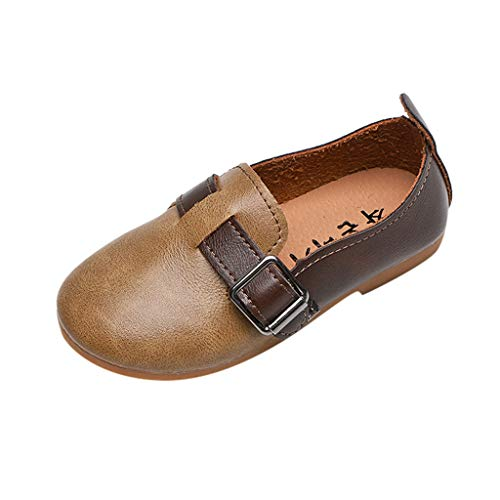 Lefthigh Child Girls Boys Shoes Outdoor Soft-Soled Baby One Pedal Student Leather Shoes Slip-on Walking Rubber Footwear