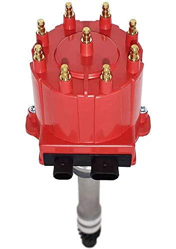 A-Team Performance Small Block Big Block EFI TBI Distributor 1987-1997 5.0L 5.7L 7.4L Compatible With GMC Chevy C/K Pickup Truck Van Camaro 305 350 454 HEI652R Red Cap