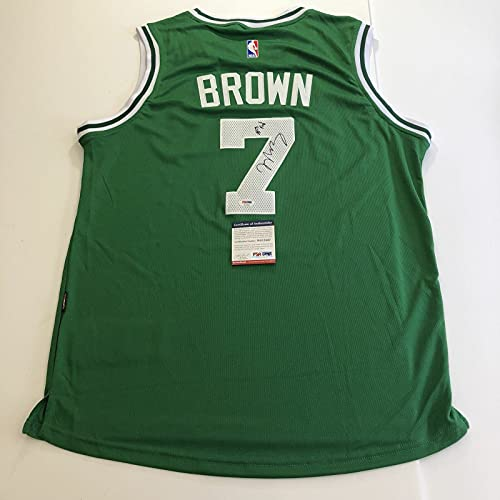 Jaylen Brown signed jersey PSA/DNA Boston Celtics Autographed Green