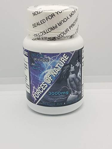 Forces Of Nature 7 Day Forecast Fast Acting Male 3000mg 24ct bottle Plus Love Potion