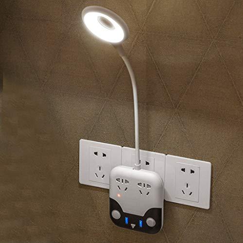 JIE KE - Lámpara de noche multifuncional para niños, dormitorio, estudio, lectura