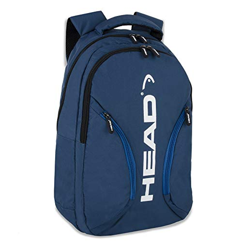 Front Zip Hiking Backpack – Double Compartment Backpack for Hiking and Travel, Work, School (Navy)