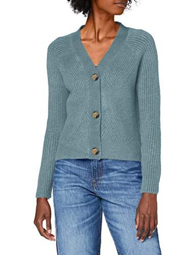 ONLY Damen Onlcarol L/S Knt Noos Cardigan, Smoke Blue/Detail:w.melange, XS EU