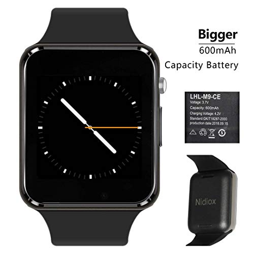 Smart Watch Nidiox Sport Smart Wrist Watch Bluetooth Smartwatch with Sleep Monitoring Call Message Reminder Anti Lost Fitness Tracker Camera Pedometer Slot Compatible for Samsung Android iPhone