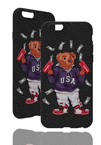 SUP Bären Hülle [ Passend für Apple iPhone 6, Schwarz ] Ted Bear Case X Supreme Cash Gun Ultra dünn - Geldpistole (TPU Hülle)
