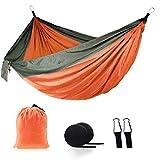 Ocuhiger Hamaca De Viaje Ultraligera Cama Portátil Camping Acampar Jardín Al Aire Libre Senderismo Playa Contraste De Color Sólido para Dos Personas 270x140cm