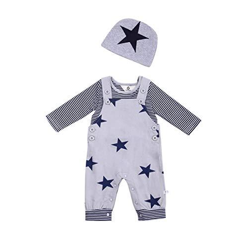 T TALENTBABY - Conjunto de ropa para recién nacidos y bebés Gris gris 3 mes