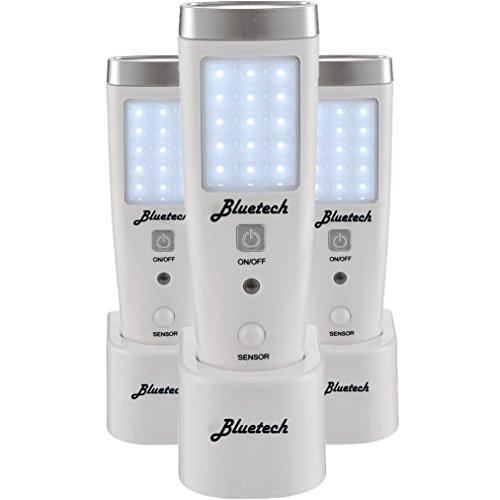 Bluetech LED Flashlight Night Light for Emergency Preparedness, Portable Unit with Motion Detection,Power Failure Light, ETL Approved Blackout Light- 3 Pack