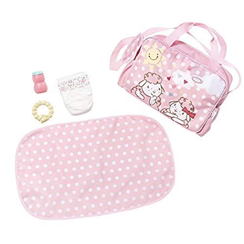 Zapf Creation 700730 Baby Annabell Active Wickeltasche Puppenzubehör, rosa, 5-teilig
