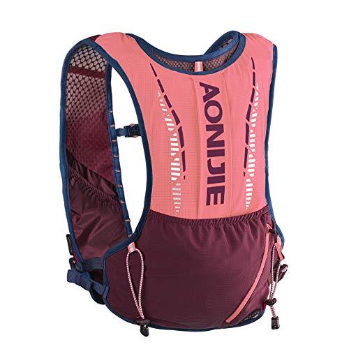 AONIJIE Trinkrucksack, leicht, 12 Liter Volumen, Marathoner, Laufen, Rennen, Trinkweste, Laufen, Wandern, Rucksack mit Trinkrucksack (schwarz, mit Blase)