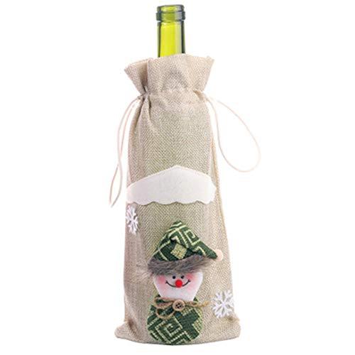 lzndeal Weihnachten, Rotwein-Champagner-Flaschen-Abdeckung für Weihnachtsfest-Hauptbankett-Dekorations-Abendessen Neu