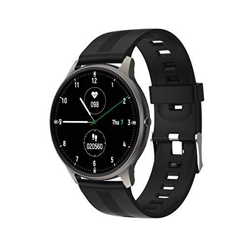 Blulory Smartwatch,Reloj Inteligente,Pulsera Actividad con Pulsómetro,Monitor de Sueño,Calorías,Cronómetros,Podómetro Monitores IP68 Impermeable Smartwatch,Reloj Deportivo Hombre para iOS Android