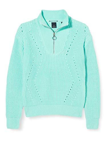 Scotch & Soda R´Belle Girls Grobstrick Baumwollmischung Pullover Sweater, Light Turquoise 3738, 10