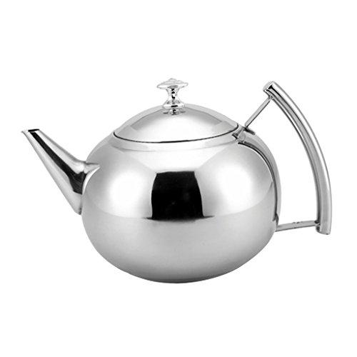 MagiDeal Bouilloire de Camping en Plein Air Faire Bouillir l'eau Pot Thé Café Théière Ustensiles De Cuisine - Argent, 2000ml