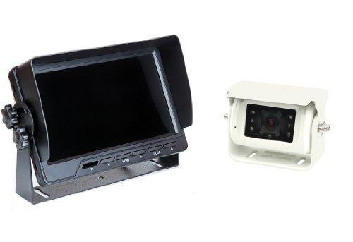 "VSG24 24121 – 7"" Premium Rückfahrvideosystem für Wohnmobile & PKWs, Kamera Set inkl. 20m Kabel, Nachtsicht, 120°Winkel, 12-24 V, IP68 – Schwarz"