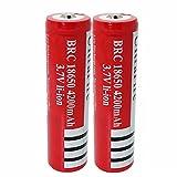 18650 baterías recargable batería de iones de litio 4200mAh 3.7v ICR Batería de litio Células Botones Baterías recargables 18650 para antorcha de linterna (2pcs)