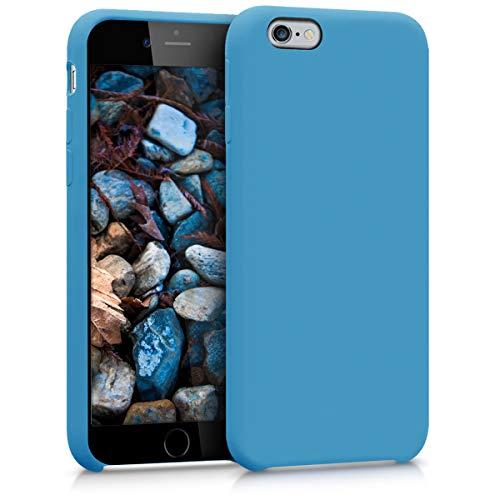 kwmobile Funda Compatible con Apple iPhone 6 / 6S - Carcasa de TPU para móvil - Cover Trasero en Azul RAF