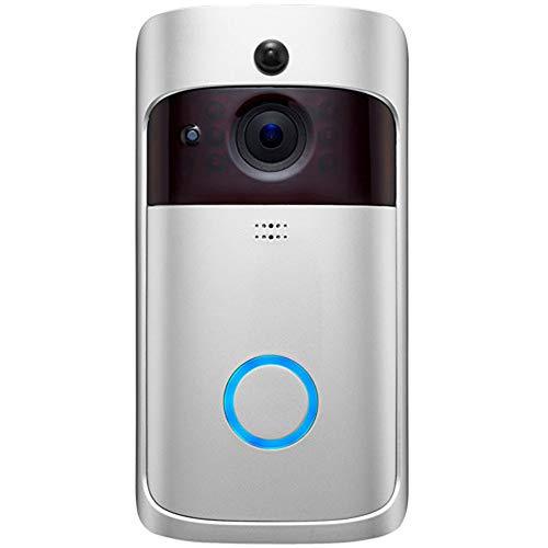 SCZZ WiFi Visuelle Intelligente Türklingel, Kamera Drahtlose Türklingel 720P HD Wireless Home Sicherheit Klingel-Kamera Für Ios Android Google