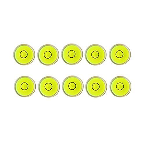 10x Bubble Spirit Level Degree Mark, Mini Circular Bullseye Level Inclinometers Use for Tripod, Phonograph, Turntable (10x6 mm)