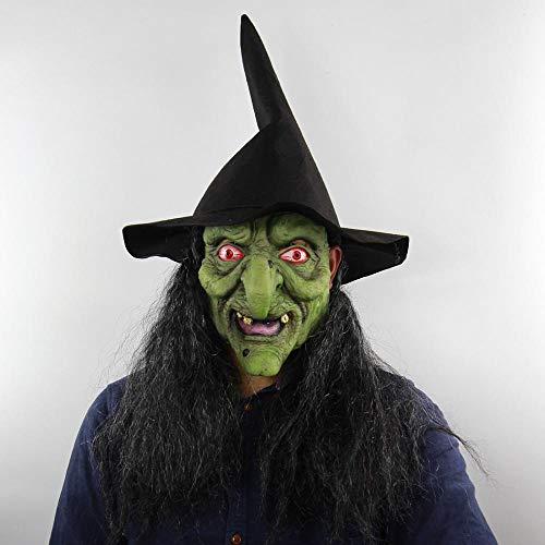 XIAMAZ Old Witch Horror Mask Volwassene Vrouw Mannen Halloween Realistische Latex Masker Cosplay Party Carnaval Masker