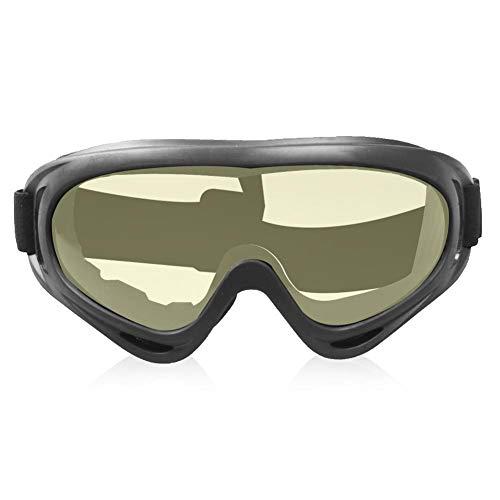 Slagvast Buiten Fietsen Skiën Beschermende veiligheidsbril Winddichte ogenbeschermer Heldere veiligheidsbril Goggle Tactiekuitrusting(Gele lens)