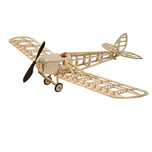 Humming Bird Slow Flyer KIT, 500 mm Spannweite, Maßstab 1/20, Modellflugzeug zum selber Bauen, Balsa Holz Bausatz, RC Flugzeugmodell Baukasten, 312 x 500 x 128 mm groß, Lasercut, 52,1 g Fluggewicht