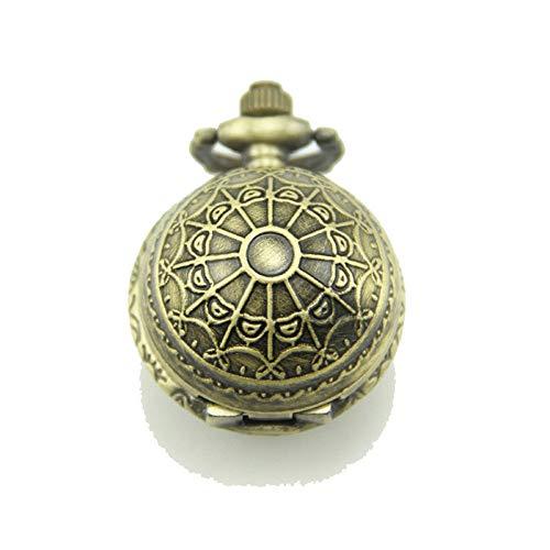 MELLRO Klassische Taschen-Uhr Globus Taschenuhr Halskette Retro Ball Taschenuhr Anhänger (ohne Kette) Mechanische Taschenuhr