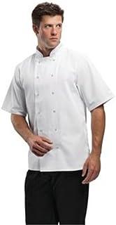 Whites Chefs Apparel B250-M Boston Short Sleeve Jacket, Medium, White