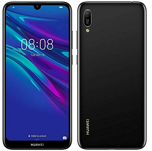 Huawei Y6 2019 32 GB 6.09 Inch FullView Dewdrop Display Smartphone with 13 MP Camera, Android 9.0 Mobile Phone Midnight Black Locked to Vodafone