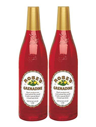 Rose's Grenadine, 1 Liter (2-Pack)