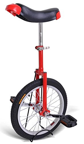 Great Price! Kobe Unicycle with Aluminum Wheel Rim 20 Red