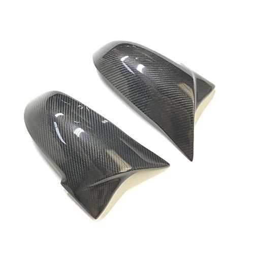 Cubierta del espejo retrovisor Ala Cubierta Del Espejo Casquillo Apto Fit For BMW F20 F21 F22 F23 F30 F31 F32 F33 F36 M3 M4 Carbon Look Cubierta Del Espejo De La Fibra Cubierta de retrovisor lateral
