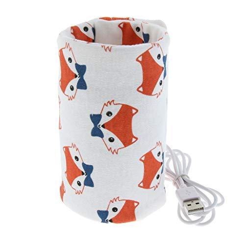 1 Stück USB-Isolierbeutel Mit Reißverschlussöffnung für Flasche, Warme Milch Isolierbeutel Flaschenwärmer - Fuchs