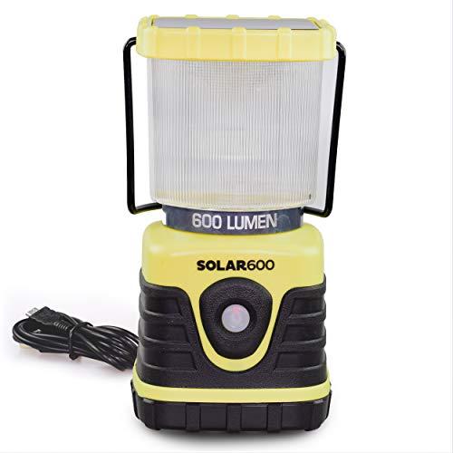 Blazin' Wiederaufladbare Solar-LED-Laterne, 600 Lumen, Ultra Helligkeit, Camping-Licht, Notfall-Taschenlampe, Aufladen über USB oder Sonne, Sturm/Stromausfälle, Batterie-Aufladegerät