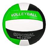 バレーボール 5号球 スポーツボール ソフト軽量 柔らかい 練習用初心者 家庭婦人バレー 緑黑白