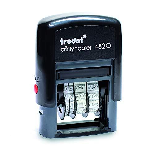 Trodat Printy 4820 Datumstempel, Monat in Buchstaben, 4 mm, Abdruckfarbe schwarz