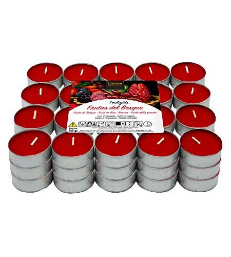 Lumar Aromatic Velas de té aromáticas (Frutos Rojos Pack 60 Velas)