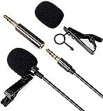 Microfono Solapa Microfono de Condensador con Clip - Daffodil MCP100B - 3,5 mm Micrófono lavalier Omnidireccional, Mini Microfono para PC/Movil/Entrevista/Videocámaras/Podcast/Grabadora/Vlog