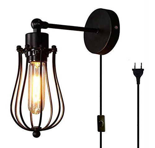 FSLIVING Vintage Edison Loft Wandlampen, Kreativ Loft Kunst Dekoration Bar Cafe Shop Retro Wandleuchte Art-Lampe