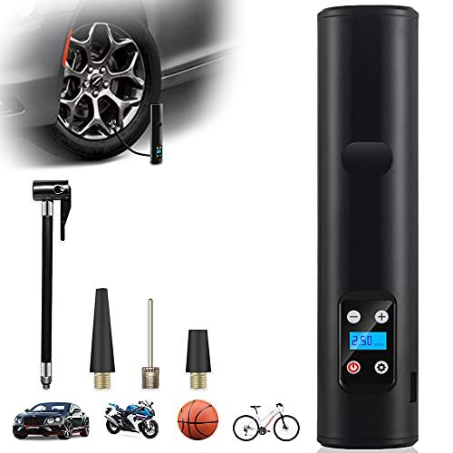 GOKKCL Elektrische Luftpumpe 12V mit Led Licht LCD-Bildschirm 150 PSI Digitale Reifenpumpe 6000mAh wiederaufladbarer Kompressor, Fahrrad, Motorrad, Basketball usw, Als Taschenlampe&Powerbank