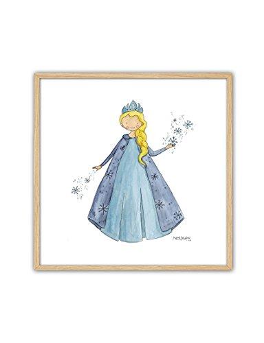 CUADRIMAN Cuadro de Princesas - Frozen - 27 x 27 cm - Decoración para Niños y Niñas - para El Dormitorio o Habitación
