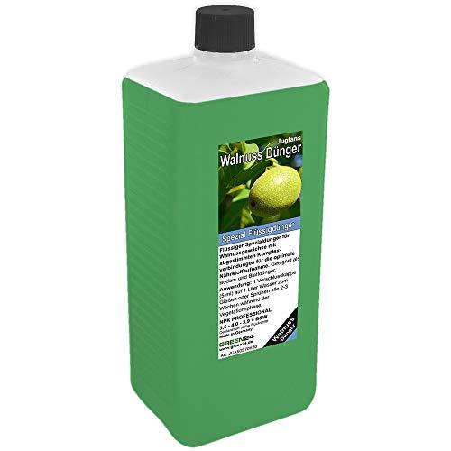GREEN24 Walnussbaum-Dünger XL 1 Liter HIGH-TECH Spezial Baumdünger für Walnuss-Pflanzen, Juglans Arten
