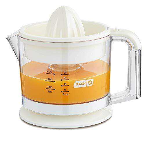 Dash Citrus Juicer Extractor: Compact Juicer for Healthy Juice, Oranges, Lemons, Limes, Grapefruit & other Citrus Fruit with Easy Pour Spout + 32 oz Pitcher - White
