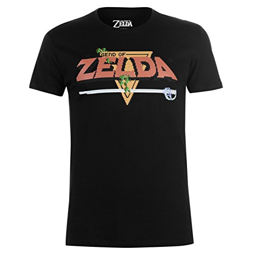 Official Hommes Zelda T-Shirt Col Rond Manche Courte Imprimé The Legend S