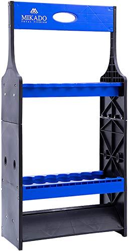Mikado Soporte de plástico para 16 cañas de pescar (utilizable por un...