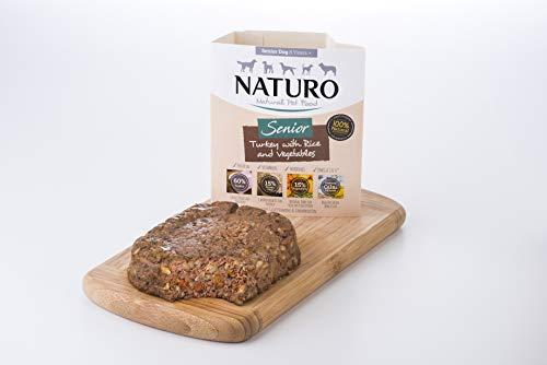Naturo - Alimento para Perros Mayores con Pavo, arroz y Verduras – Paquete de 7 x 400 g – Total 2800 g