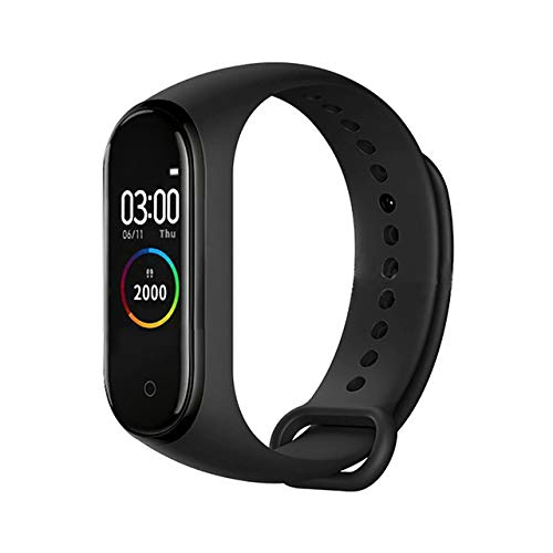 zhuizhu M4 Smart Band Fitness Tracker Smart Watch SmartHwatch Pulsera Pulsera cardíaca presión Arterial Smartband Monitor Motor (Color : Black)